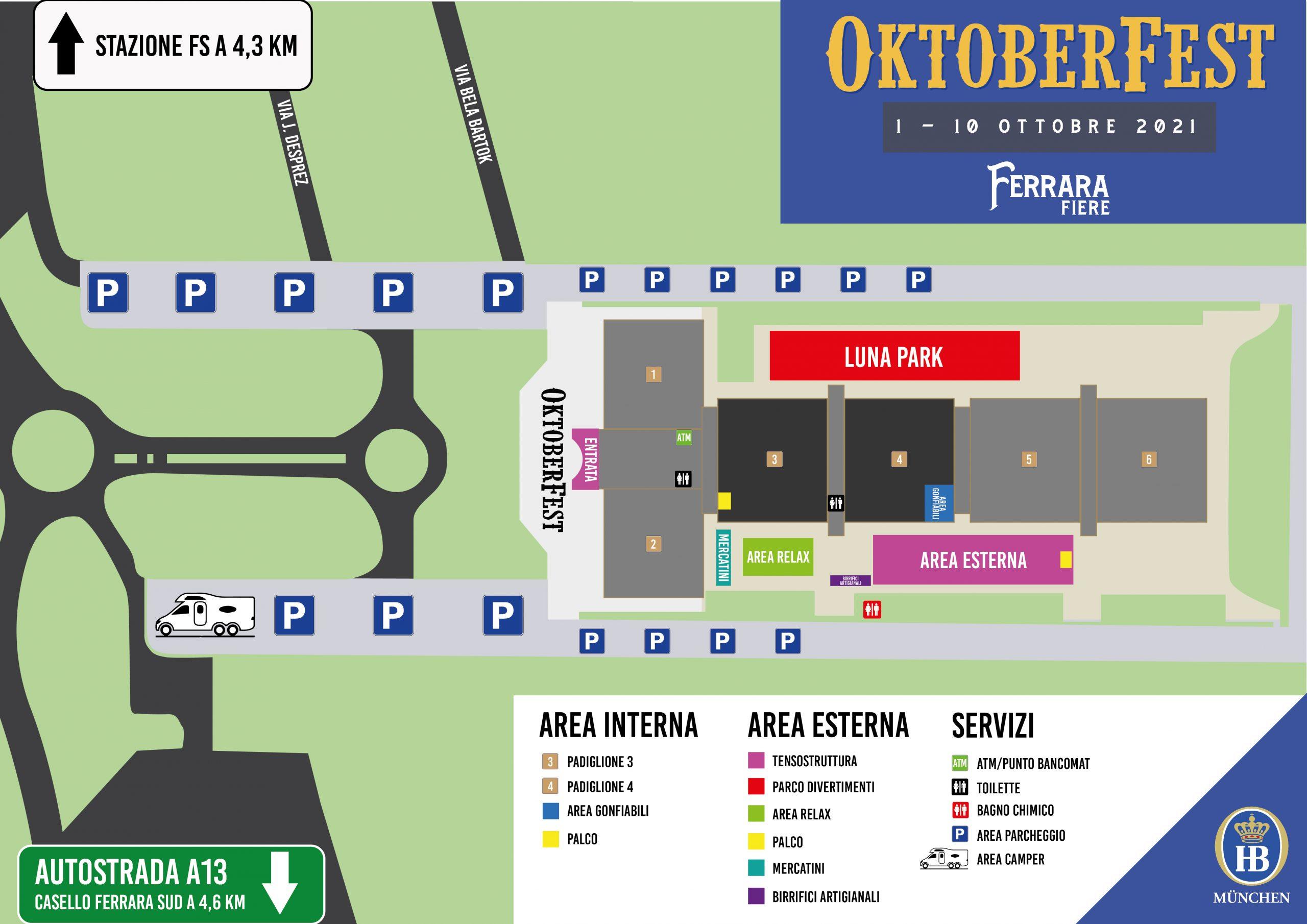 Mappa Oktoberfest Ferrara 2021